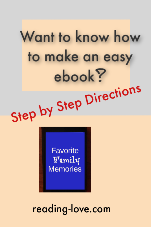 how to make an easy ebook