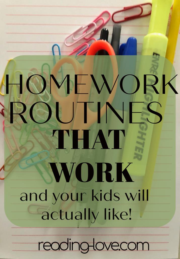 homework routines that work