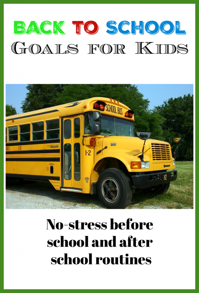 back to school goals for kids
