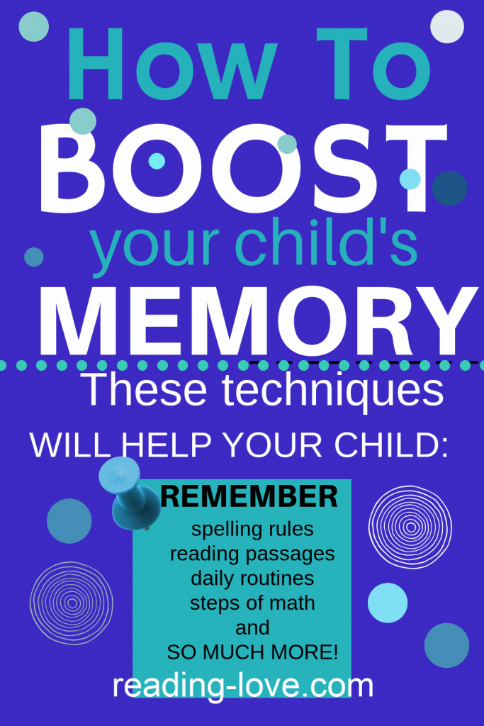 Boost your child's memory